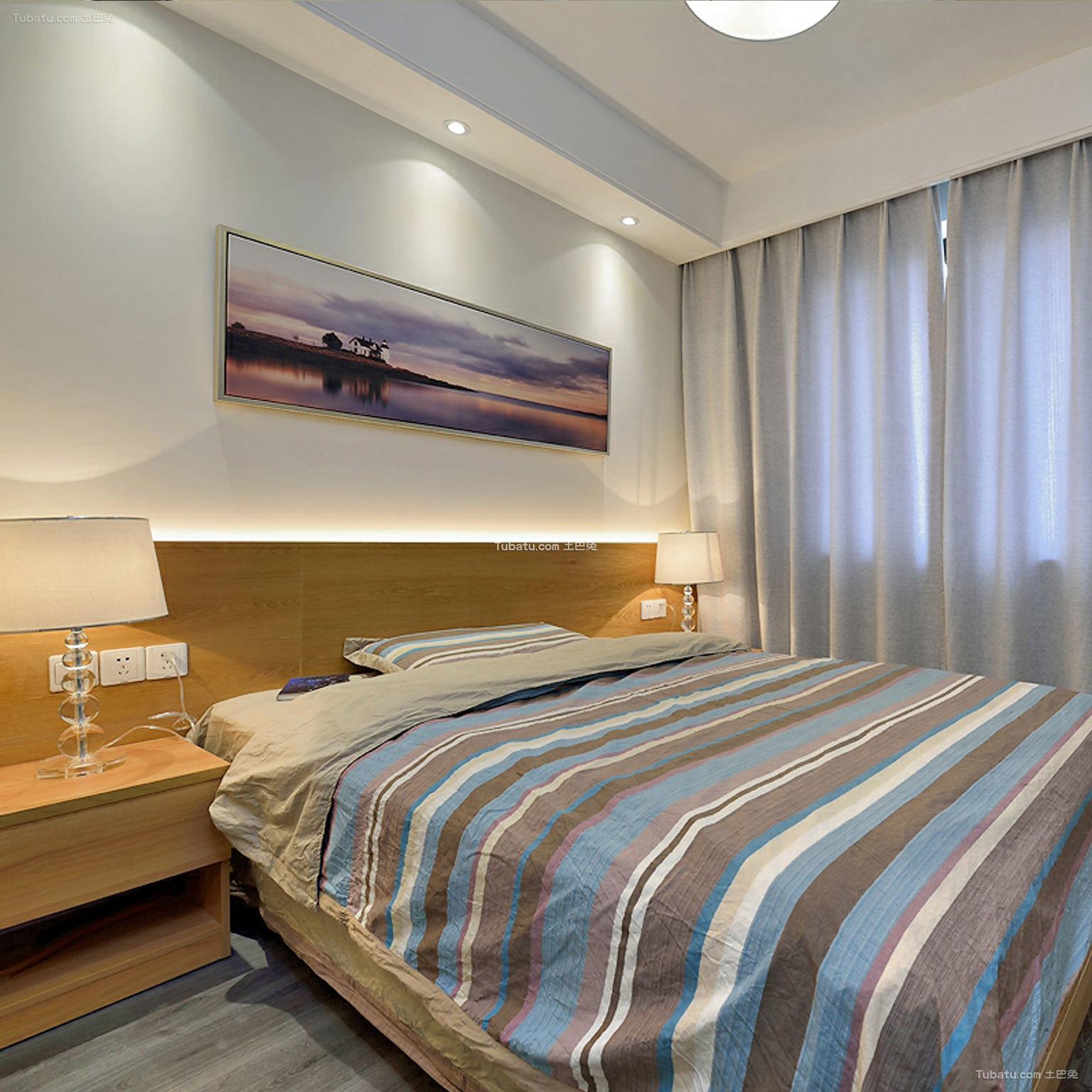 时尚素雅现代卧室装饰搭配