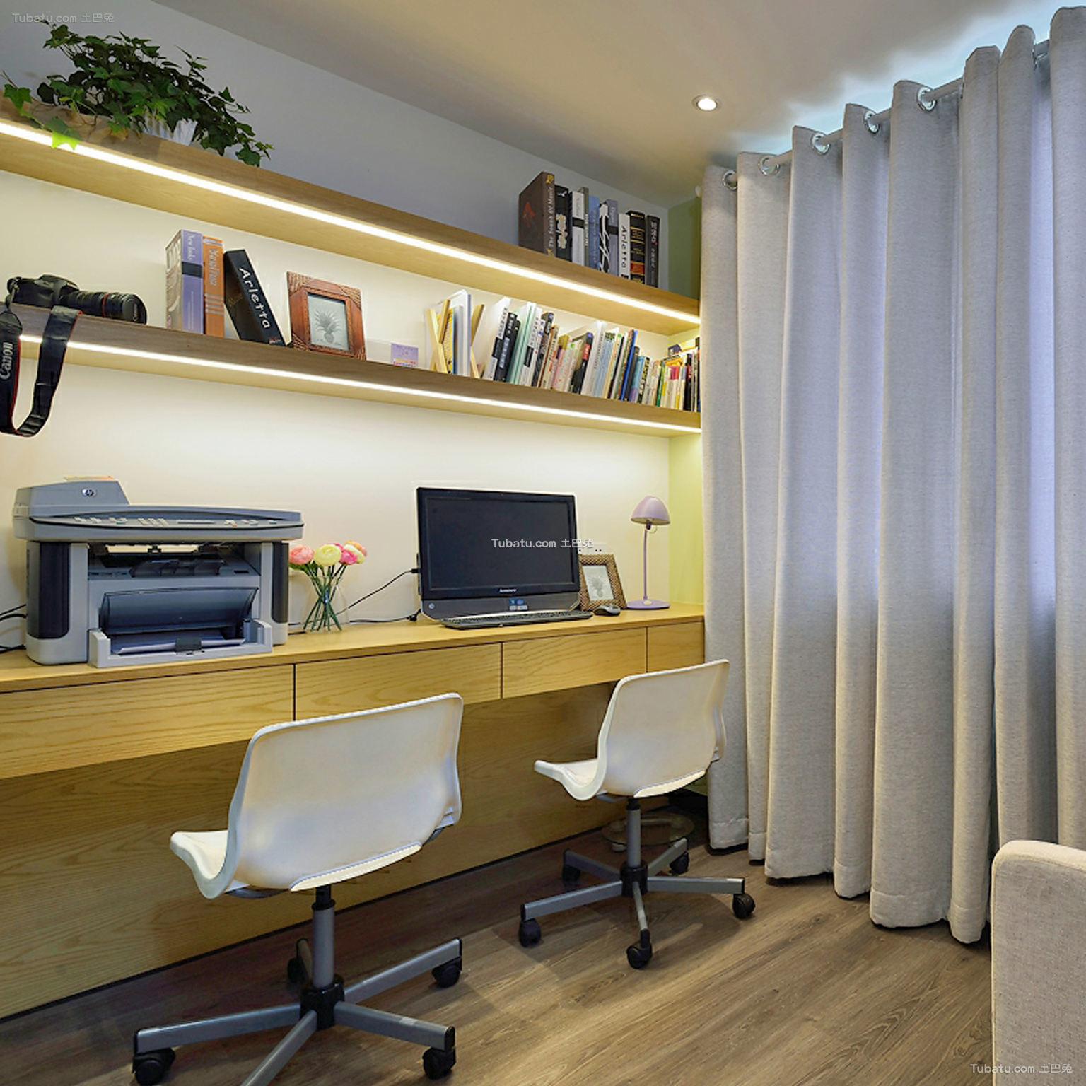 现代简约家居办公室书房设计