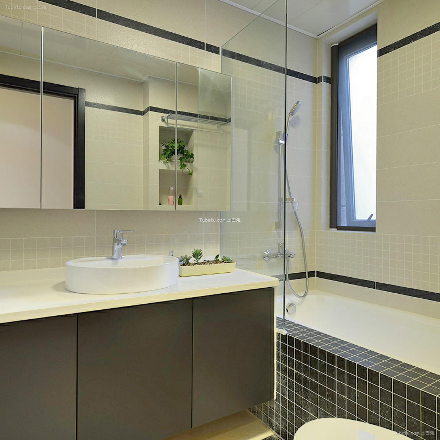 现代家居卫生间装修示范