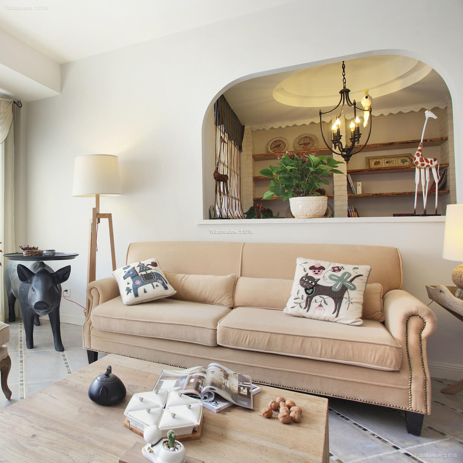 地中海文艺客厅装修案例
