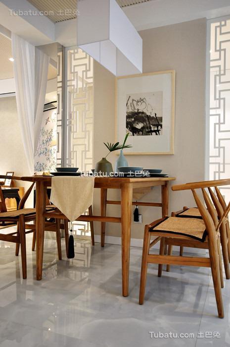新中式禅意餐厅装修案例