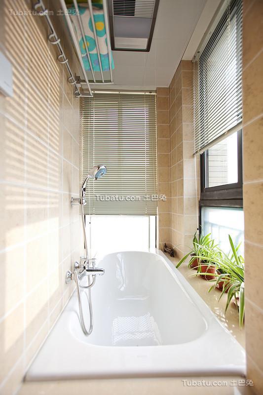 都市田园封闭式浴缸阳台