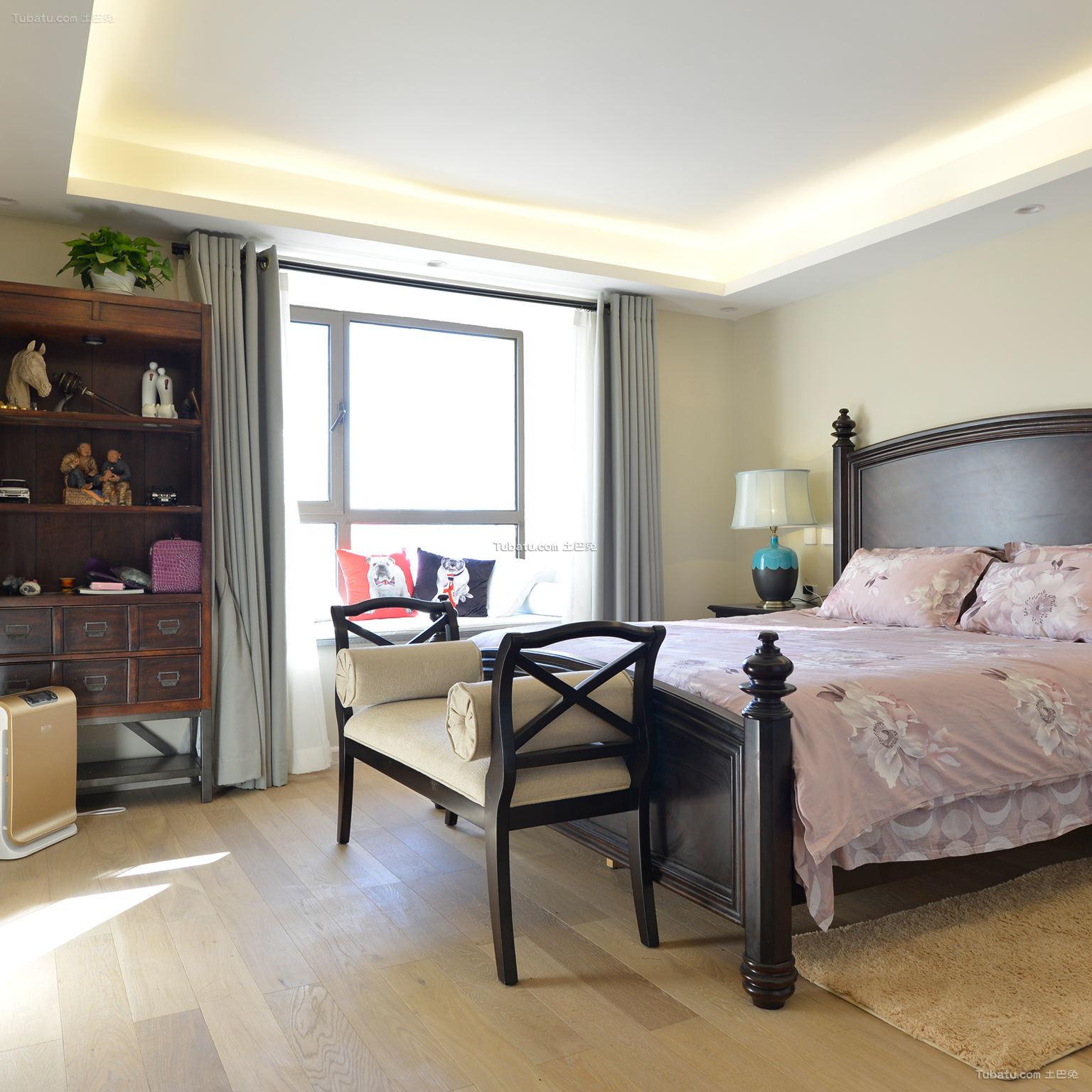 现代中式卧室装修案例