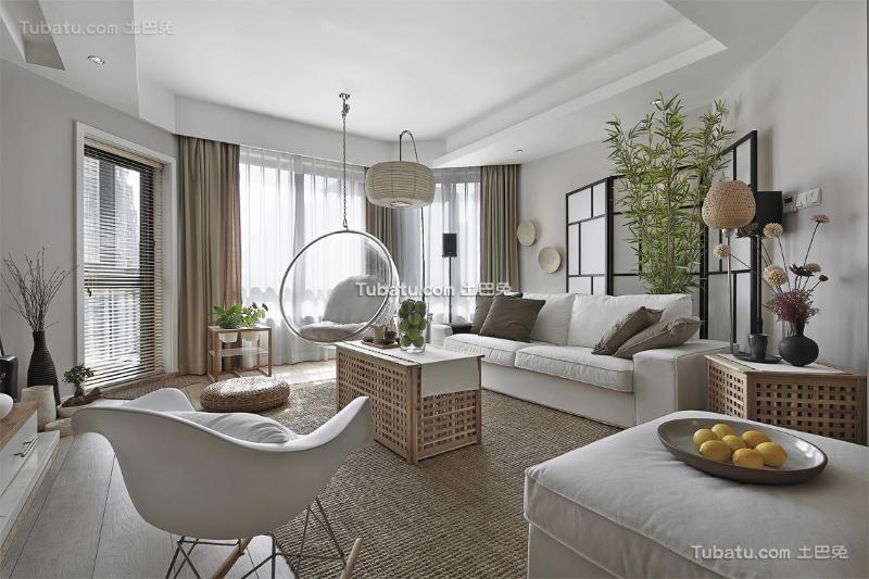 纯美日式简洁客厅装修