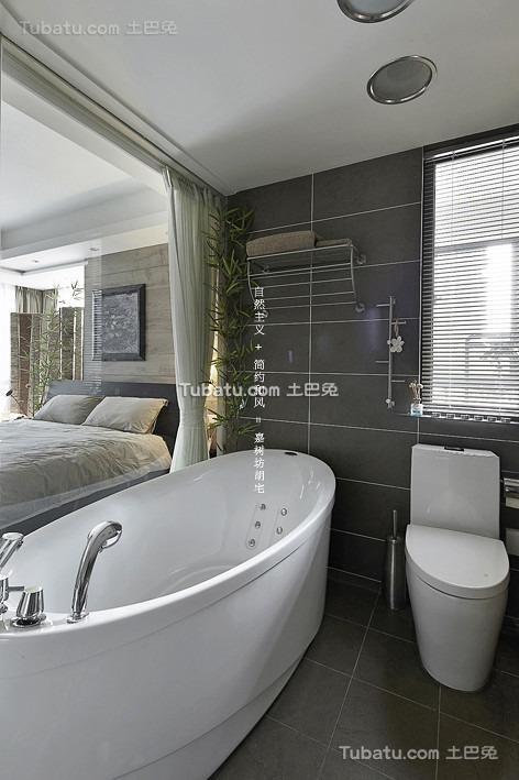 简约卧室卫生间设计