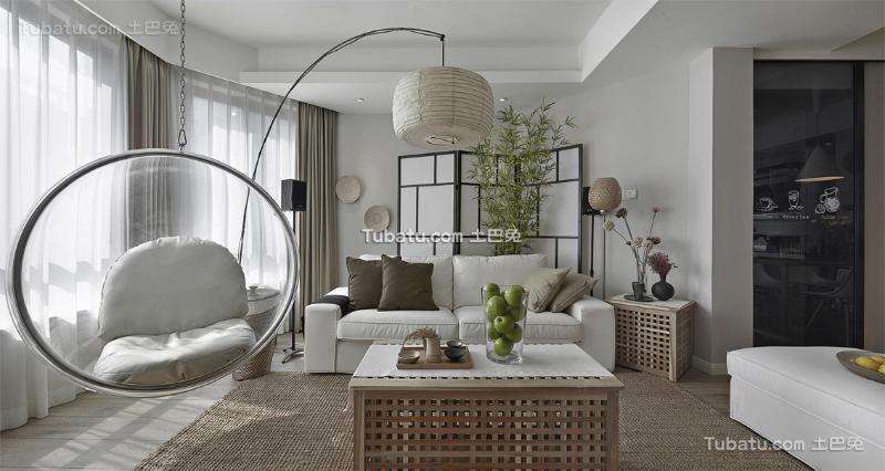 120平简洁日式三居装修案例