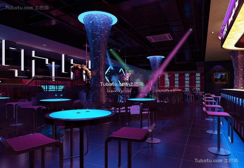 酒吧大厅设计室内效果图