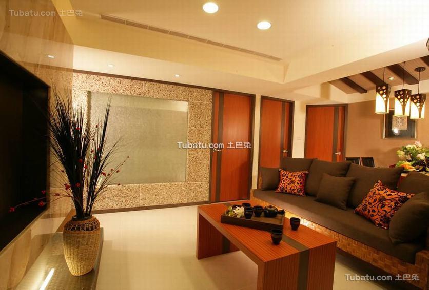 2016东南亚风格客厅室内装饰图片
