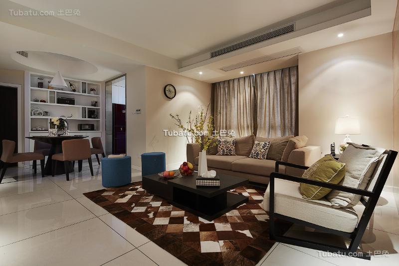 时尚文艺现代客厅装修实例