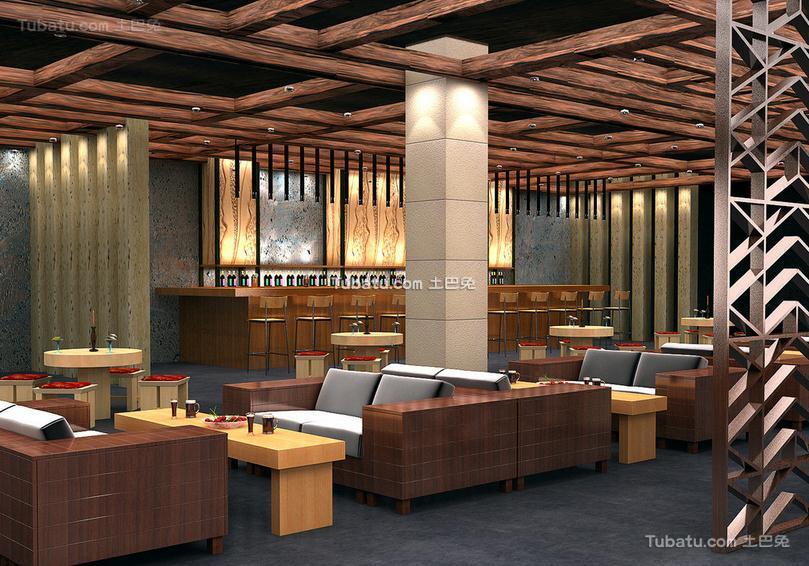 咖啡厅大厅设计装饰效果图