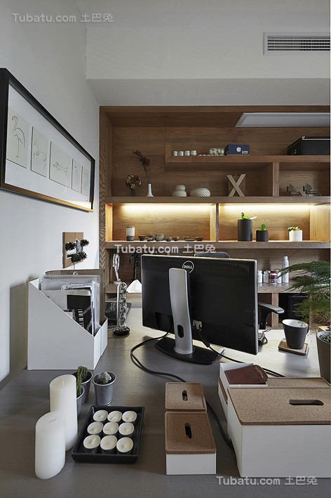 简约日式书房局部设计展示