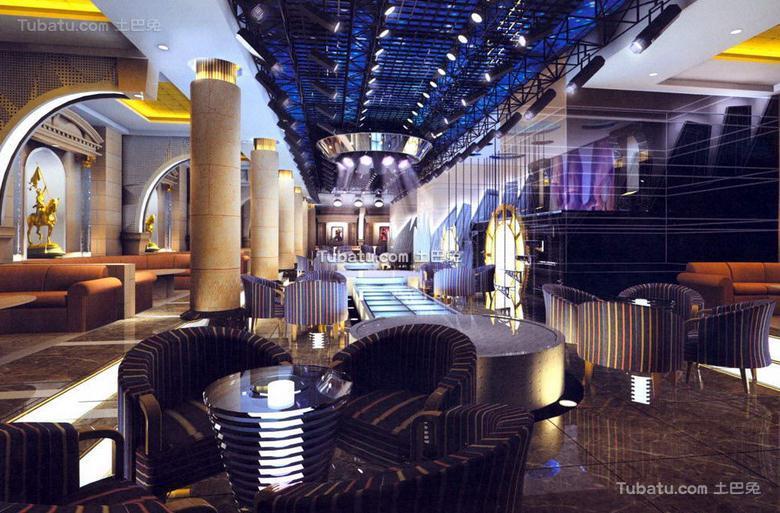 酒吧雅座设计室内效果图