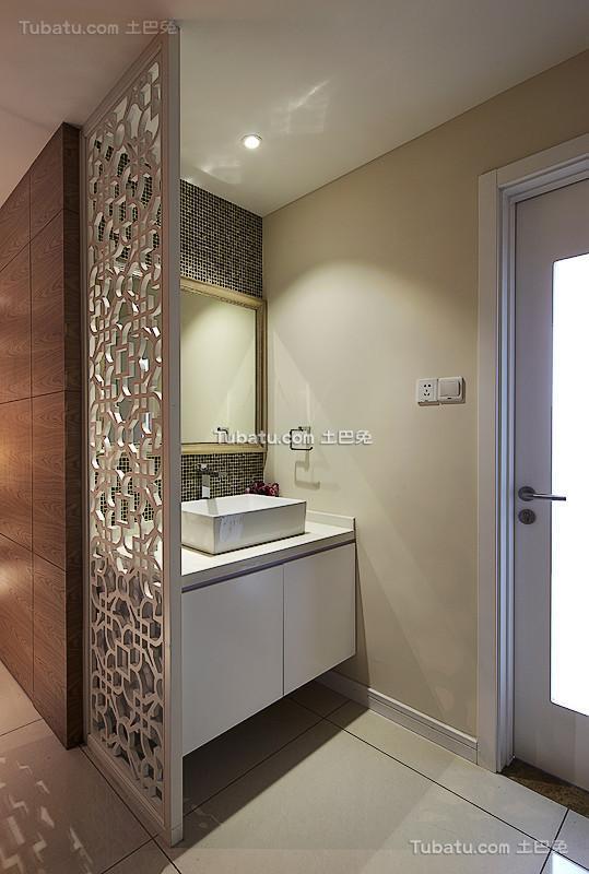 现代都市家居洗手台装修实例