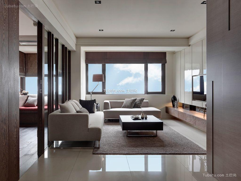 现代装饰10平米客厅大全欣赏