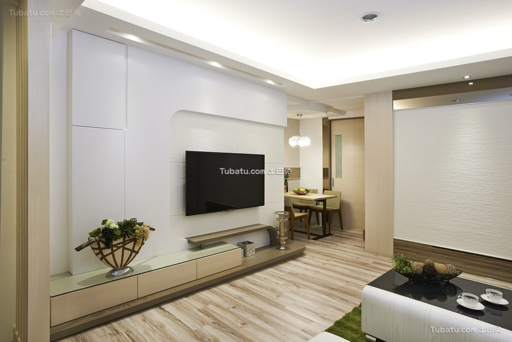 现代时尚简约电视背景墙设计图