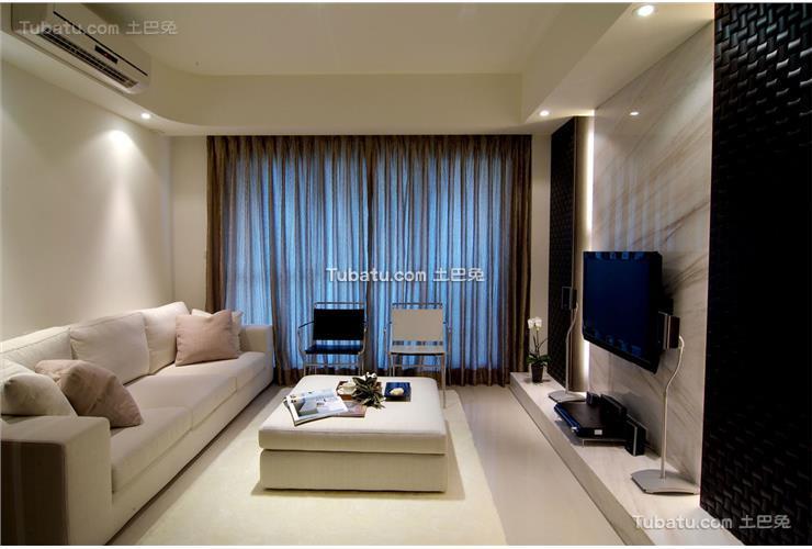 小户型客厅简装效果图