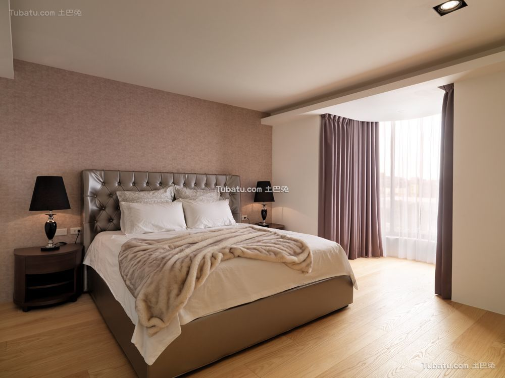 简欧三居室卧室