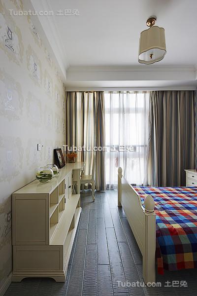 美式卧室窗帘