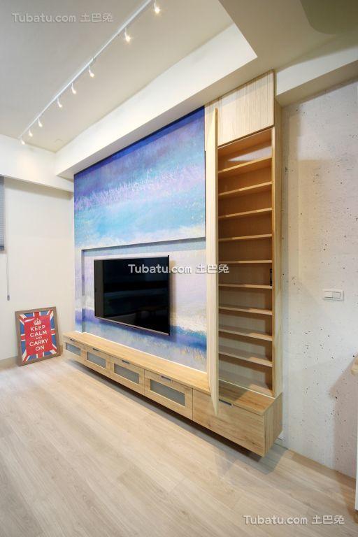 极简主义室内电视背景墙