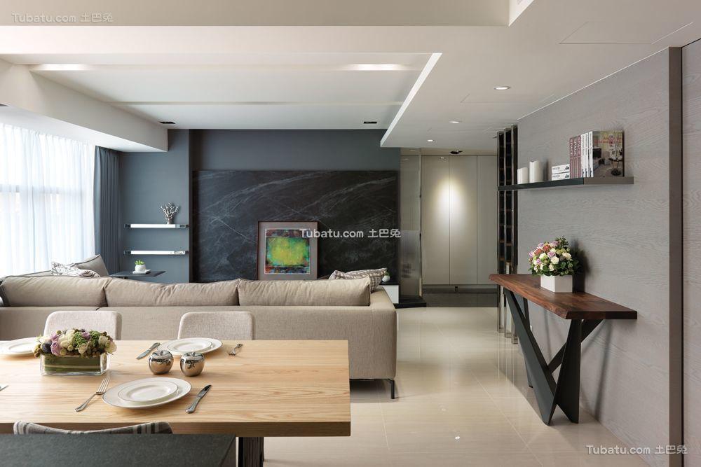 现代客厅吊顶家装效果图