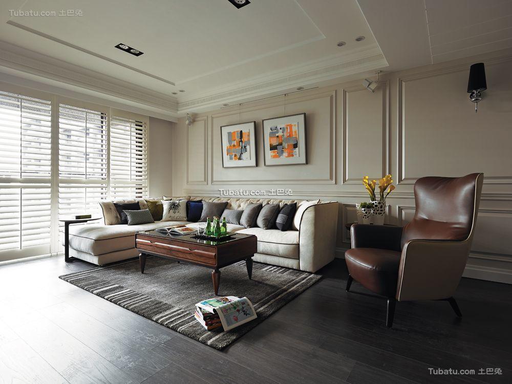 后现代装修风格客厅效果图