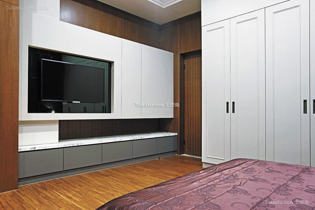 卧室电视背景墙造型