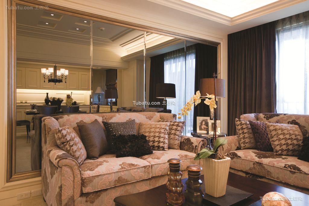 美式风格三居室内家装效果图片