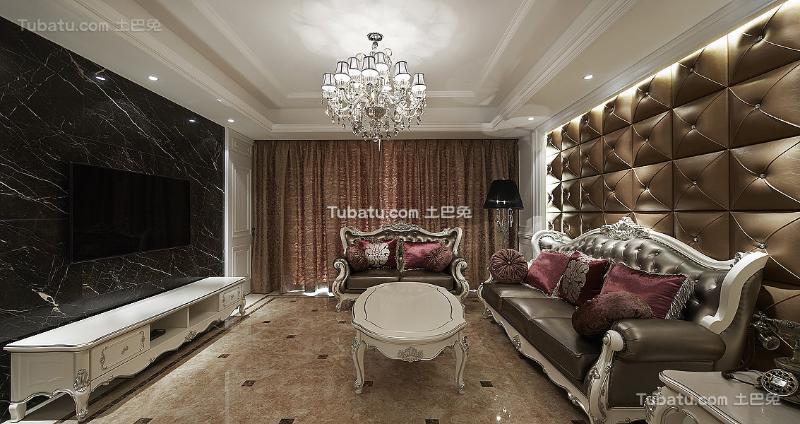 精美奢华新古典客厅装修