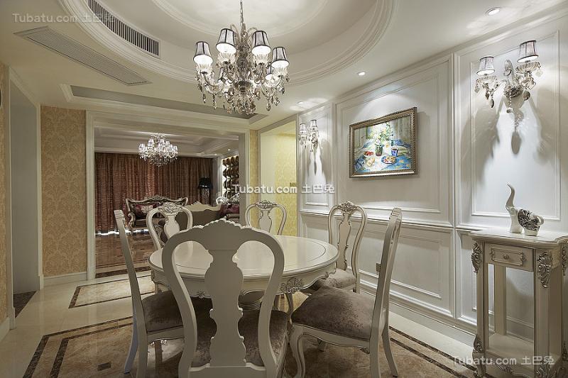 精美奢华新古典餐厅装修展示