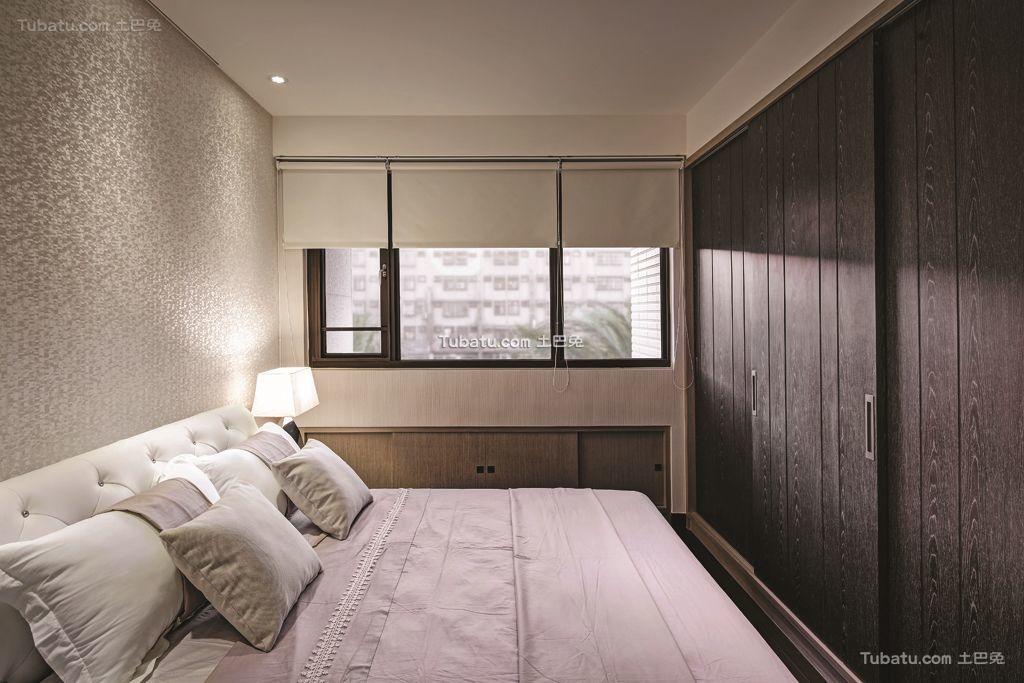 现代卧室窗户家居设计效果图