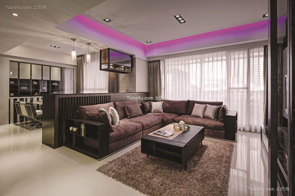 现代两居室家居设计效果图