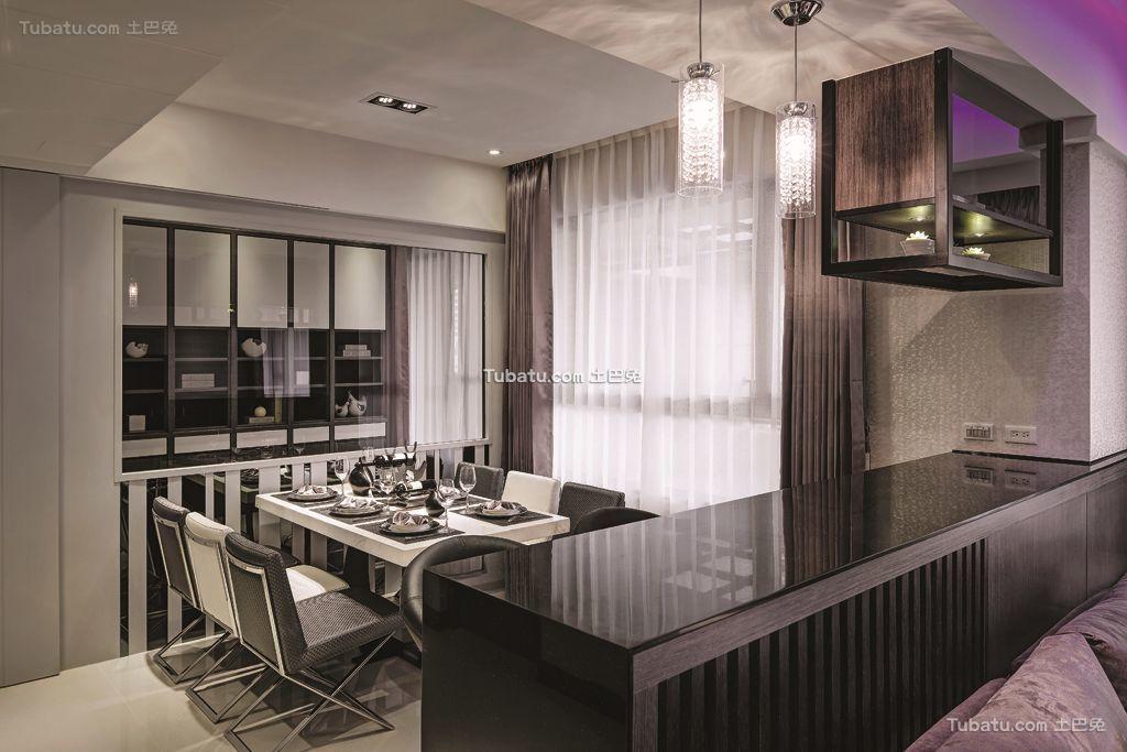 现代餐厅吧台家居最新设计效果图