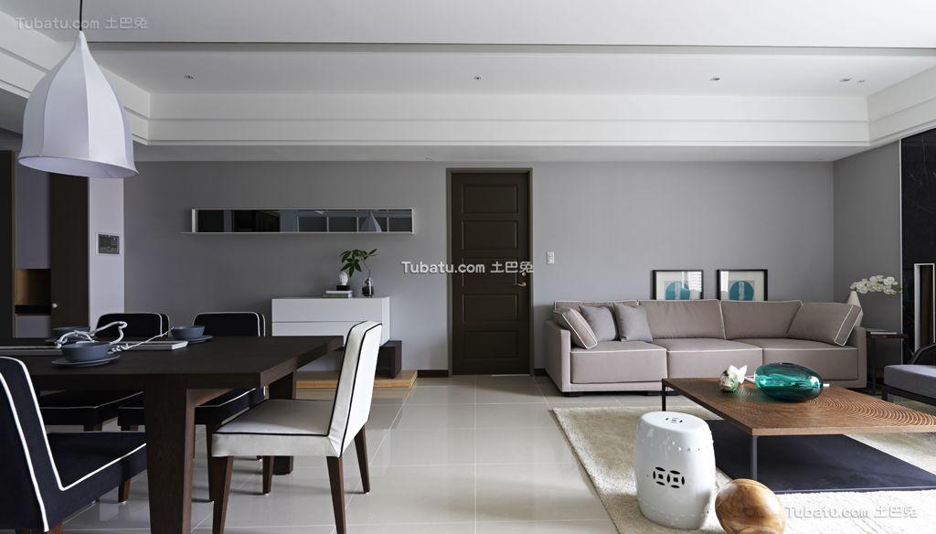 时尚现代三居室内效果图