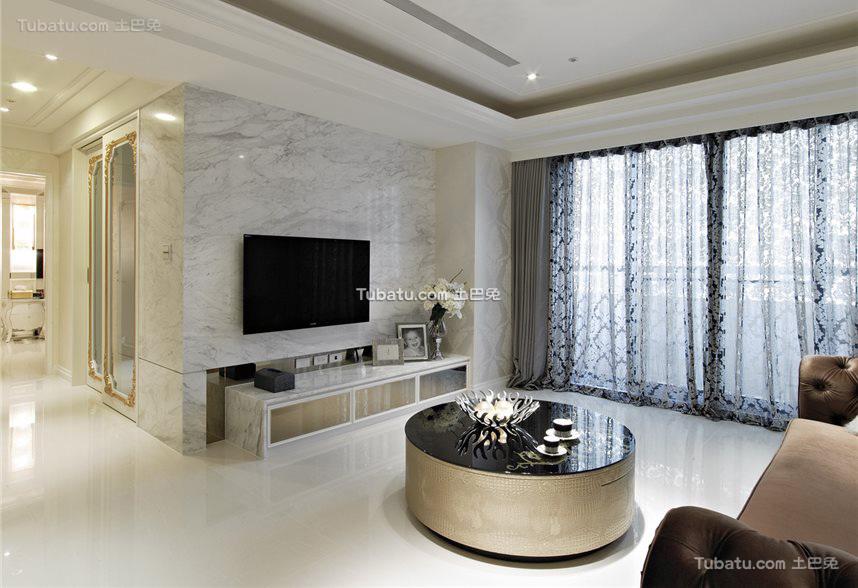 欧式古典客厅电视背景墙图