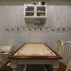 田园复古餐厅设计装饰效果图