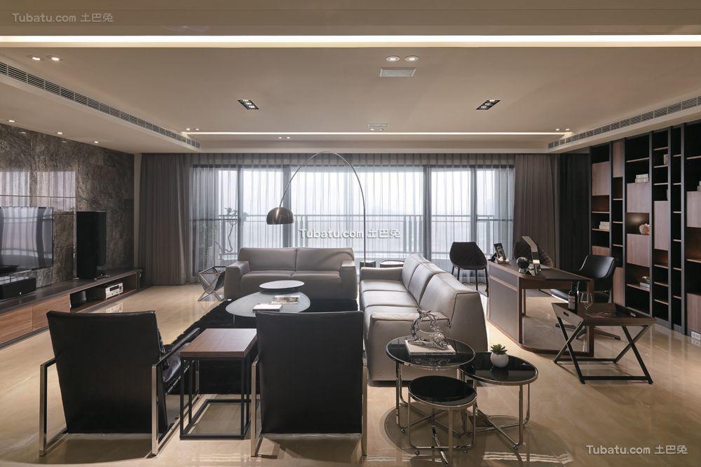 140平精致现代三居装修设计