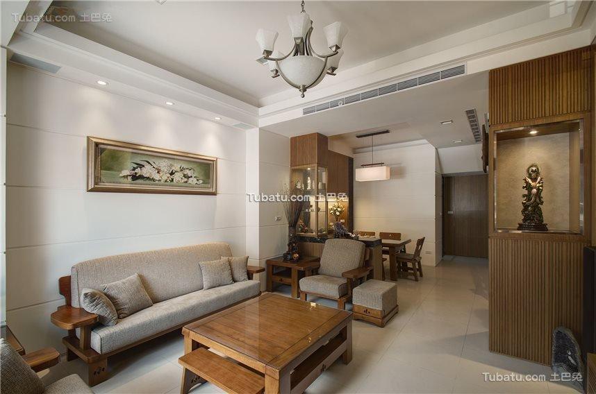 新中式三居家装设计效果图