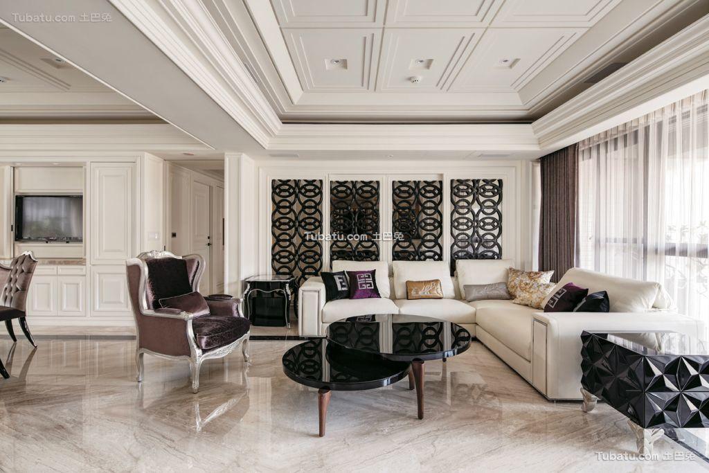 精致新古典三居室设计装修