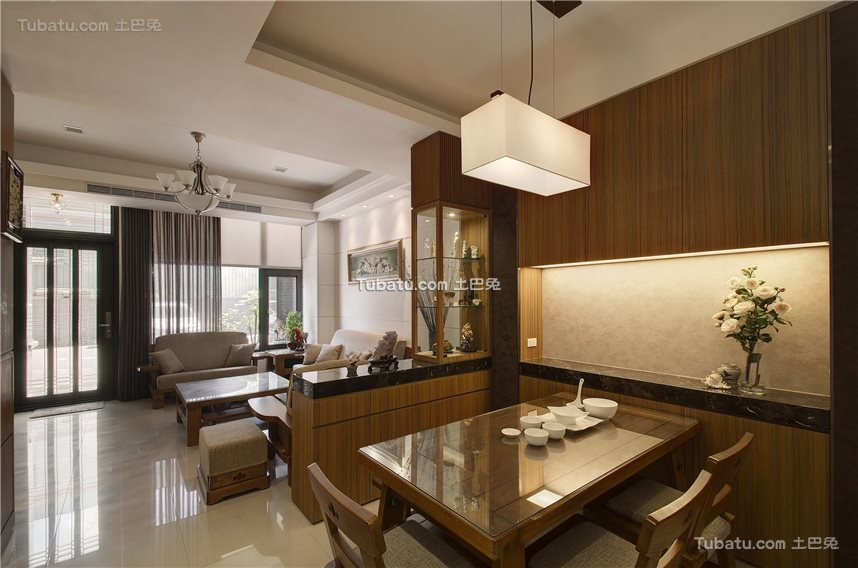 新中式餐厅家装设计效果图