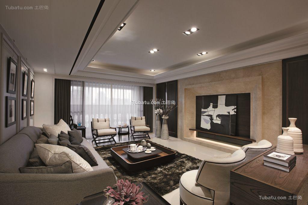 后现代设计140平米四居室大全欣赏
