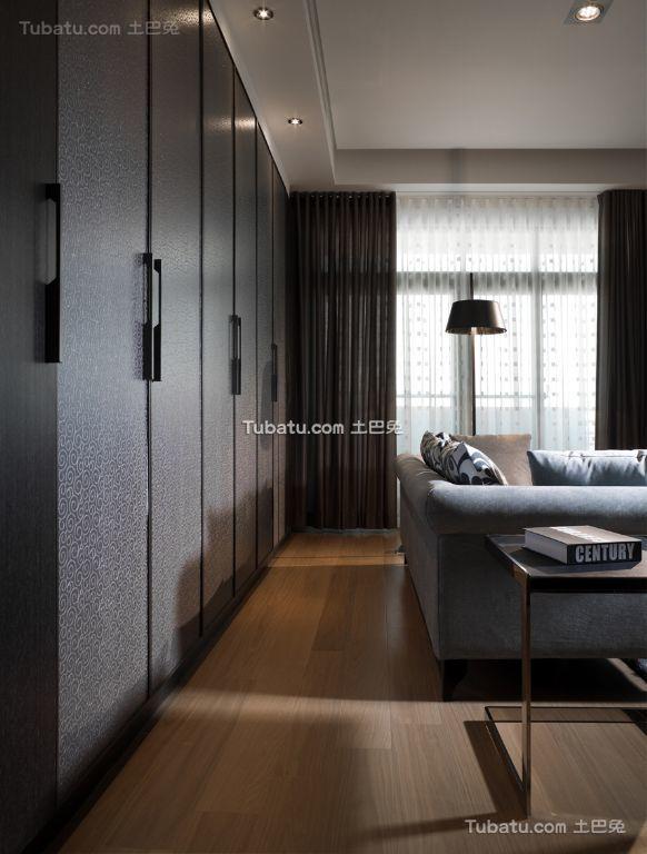 现代风格客厅窗帘装潢效果图