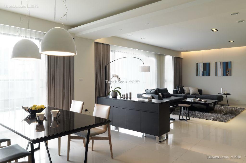美式现代室内餐厅效果图片