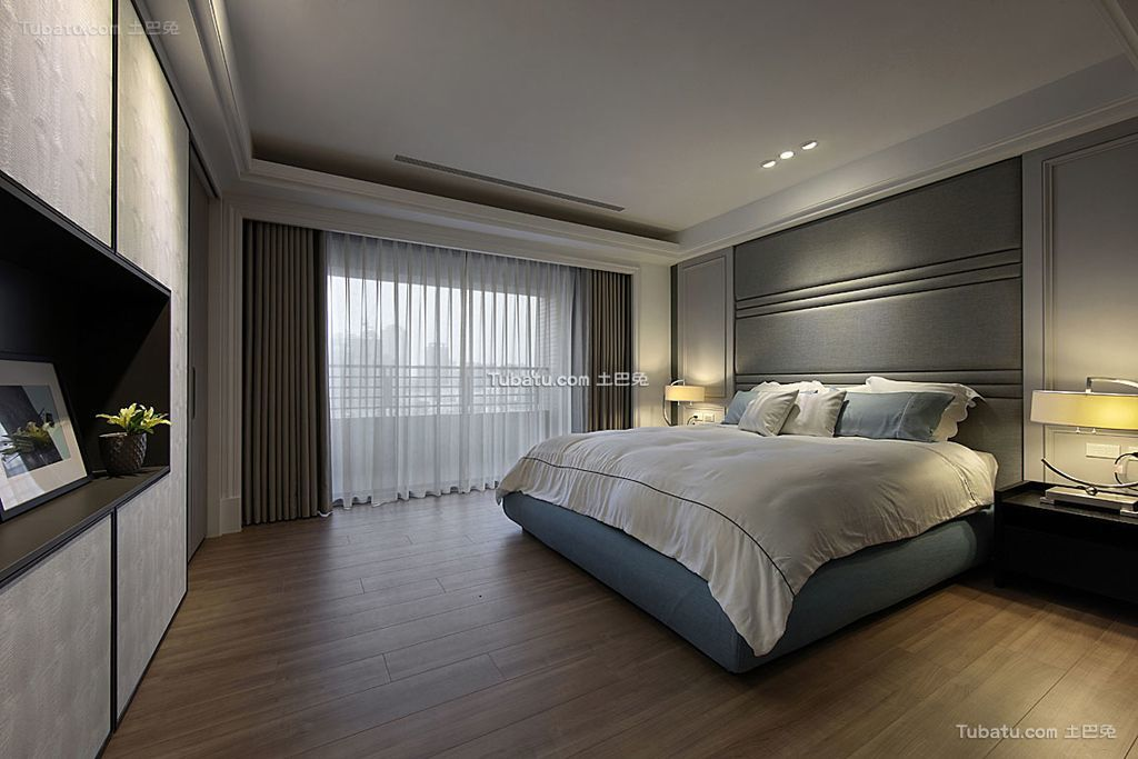后现代时尚卧室窗帘欣赏