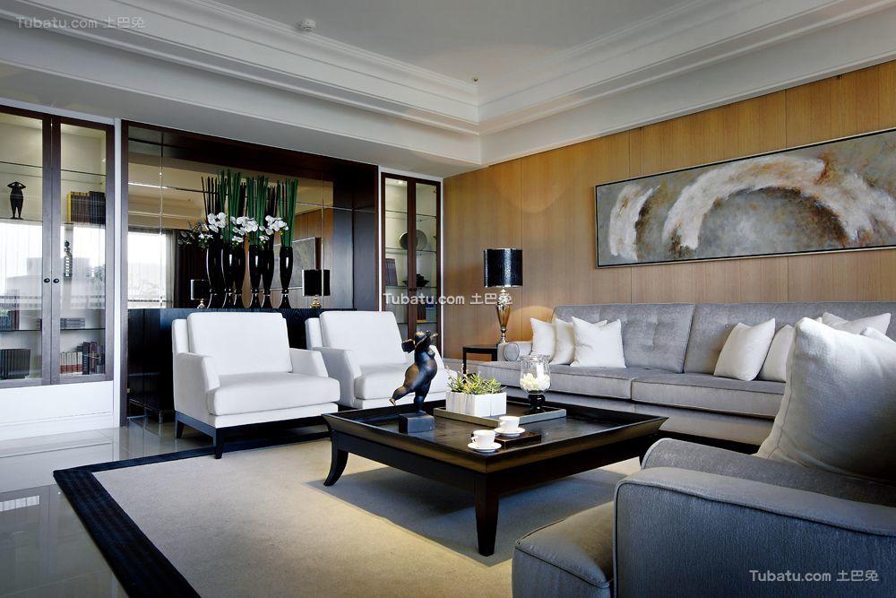 现代三居室装潢效果图片