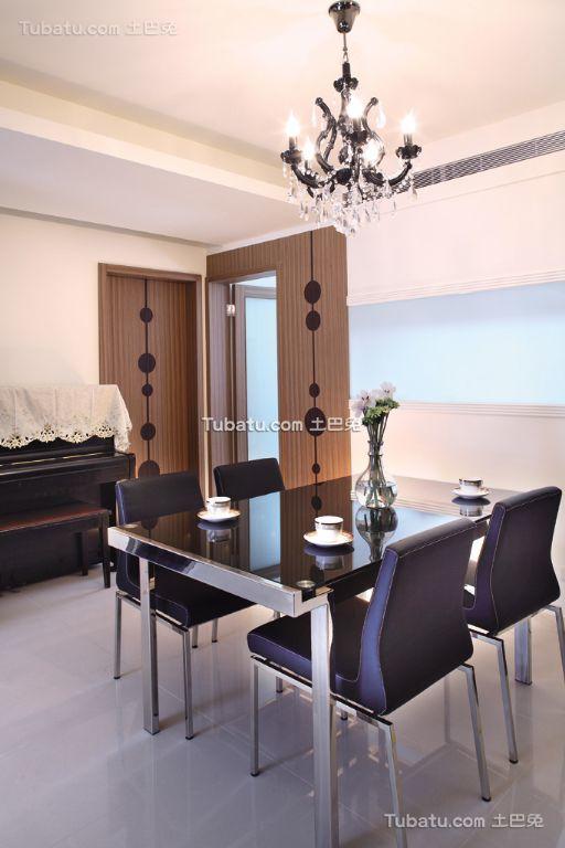 最新简约一居室餐厅家装效果图