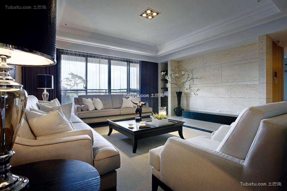 现代三居客厅装潢效果图片