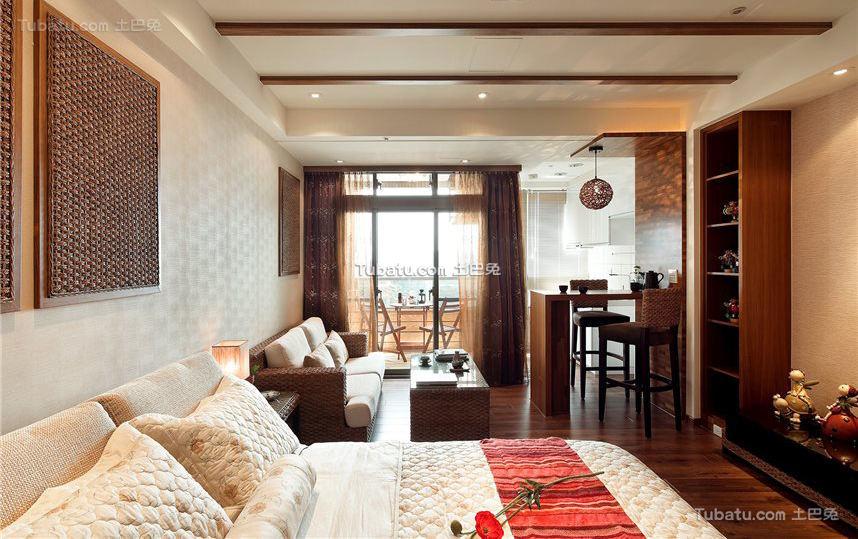 东南亚装修卧室窗帘欣赏