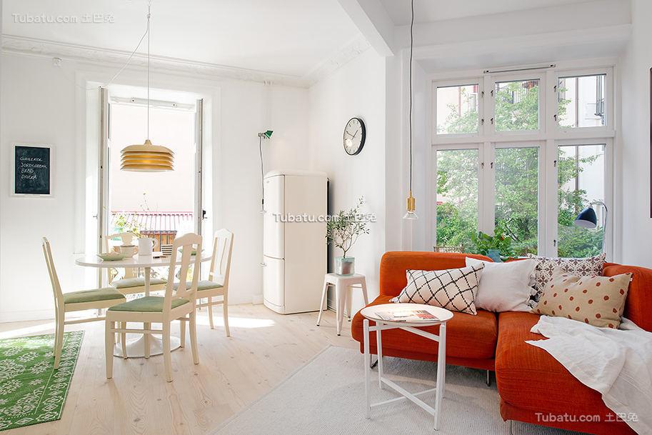简洁北欧风格小户型居室装修