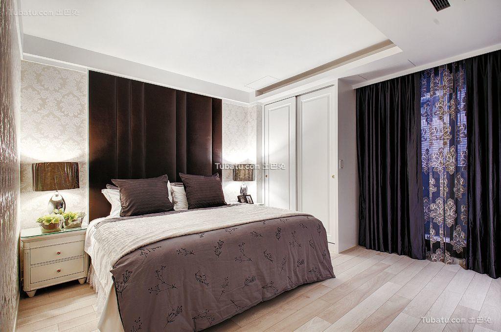 家居美式装修卧室效果图2016