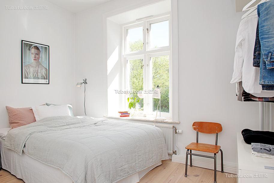 明亮简洁北欧卧室设计